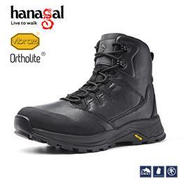 悍戈35051突击者战术靴通勤靴高帮皮鞋真皮透气舒适黑色皮鞋男鞋