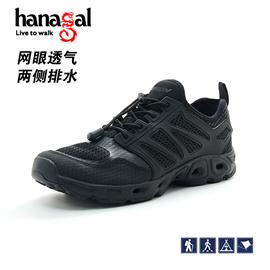 悍戈33555黑色夏季溯溪鞋男女户外野营透气徒步鞋超轻涉水速干鞋